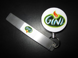 Metal Retractable Key Reel with your logo