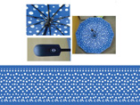 Full Overall Dots Printing Auto Umbrella