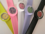 Colour Printing Silicone Snap Watch