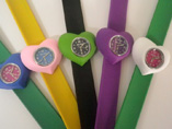 Heart Shaped Silicone Snap Watch