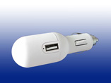 White Color Dual USB Car Charger