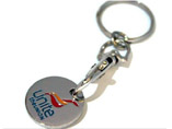 Promotional Trolley Coin Keychain
