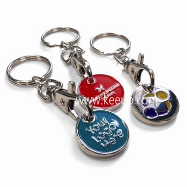 Wholesale Personalized Half Heart-shaped Metal Keychain,Promotional