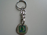 Advertising euro Trolley Coin Keychain