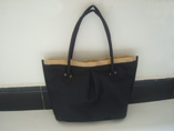 Black Canvas Beach Tote Bag