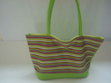 Stripe Canvas Beach Tote Bag