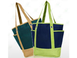 Canvas Tote Beach Bag With Outside Pockets