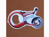 Moto Shaped Plastic Bottle Opener