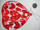Customized Heart Shaped Music Foil Balloon
