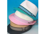 Panama Straw Hat With Ribbon