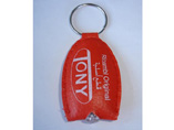 Red Printing LED Leather Keyring