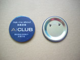 Blue Round Tin Button Badge