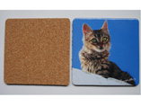 Customized MDF Square Cork Cup Pad