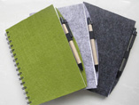Spiral Art Paper Cover Note Book With Pens