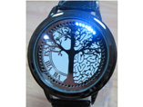 Christmas Tree Touch Screen LED Watch