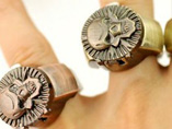 Bronze Skull Head Ring Watch