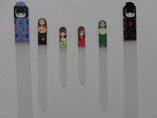 Crystal Glass Nail Files With Printing Handle