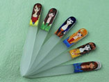 Girl In Coating Glass Nail File