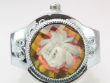 Three Dimensional Flower Ring Watches