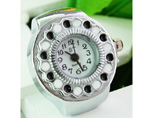 Stainless Steel Simple Style Ring Watches