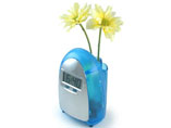Water Power Digital Clock with Flower Holder
