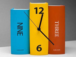 Book Style Table Clock
