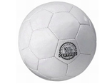 Machine stitch white sport football