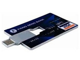 Credit Card USB Flash Memory Web Button