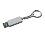 Full capacity USB web key with keyring