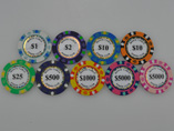 Gold Printed Poker Chip