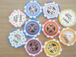 Colored Pure Clay Sticker Poker Chip