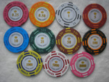 Round Clay Plastic Casino Chips