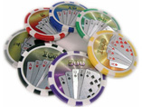 Wholesale Royal Flush Sticker Poker Chips