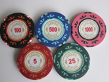 Pure ABS Sticker Poker Chip