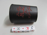 Wholesale leather dice shaker game set