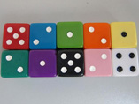 Advertising screen imprint colorful dice