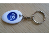 Customized Plastic Lottery Scrapers Keychain