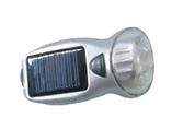 LED Dynamo Crank Solar Flashlight