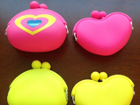 Heart shaped purse jelly coin purse