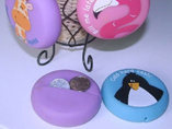 Squeezable round style coin purse keyring