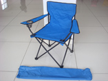 Traveling folding chair with cup holder