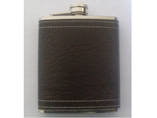 Promotional PU Leather Wrap Hip Flask