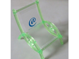 Custom logo transparent plastic phone Holder