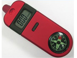 Promotional compass tire gauge