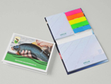 Personalized sticky note with page marker