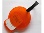 Round Shaped Plastic Luggage Tag