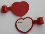 Heart shaped card luggage tag