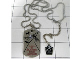 Custom stainless steel necklace dog tag