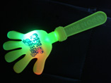 Flashing light up hand clapper