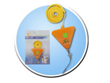 Promotional Triangle Personal Alarm with Lanyard